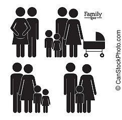 Family design over white background,vector illustration