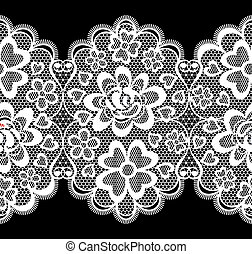 lace embroidery seamless border