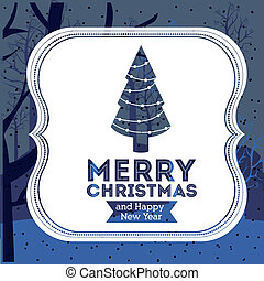 Christmas design over blue background,vector illustration