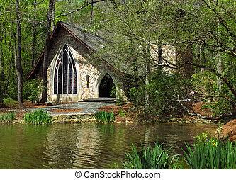 Callaway Ida Cason Chapel - Nestled in a serene forest...