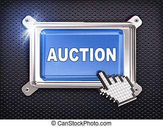 3d button hand cursor - auction