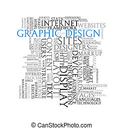 Graphic design word tags wordcloud