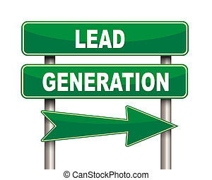 Lead generation green road sign - Illustration of green...