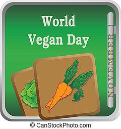 Button World Vegan Day