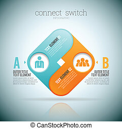 Connect 2 Switch - Vector illustration of connect 2 two...