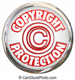 Copyright Protection 3d Words Symbol Icon Intellectual Property