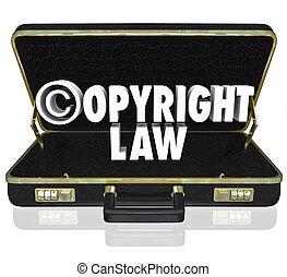 Copyright Law Legal Court Case Attorney Lawyer Suit C Symbol...