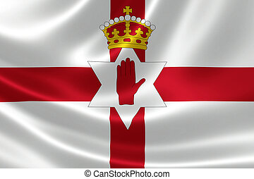 Northern Ireland Flag - 3D rendering of the flag of Northern...