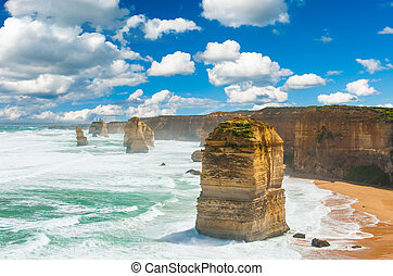 Twelve Apostles, natural landmark near the Great Ocean Road...
