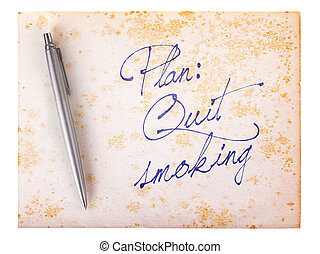 Old paper grunge background - Quit smoking