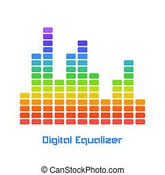 Rainbow Equalizer on White Background
