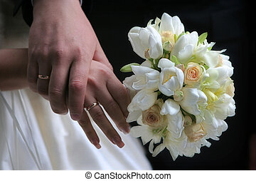 Hands of groom and bride - Hands of the groom and the bride...