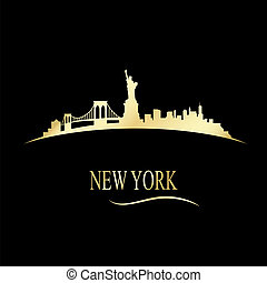 Luxury golden New york skyline - vector illustration
