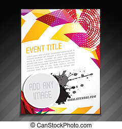 event poster design - vector event brochure flyer template...