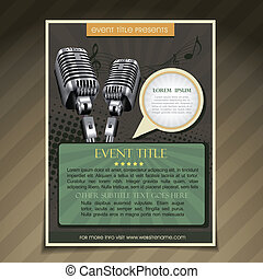 event poster template - vector event brochure flyer poster...