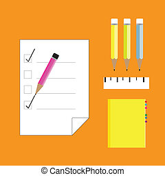 paper and office equipment vector