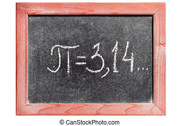 pi handwritten - pi number handwritten on isolated vintage...