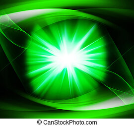 Green color design with a burst