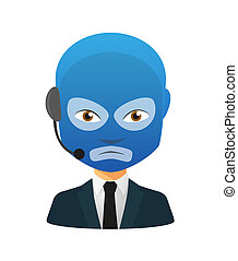 Male avatar wearing a wrestling mask - Illustration of an...