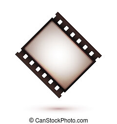 Blank vintage retro old film strip icon Background Vector...