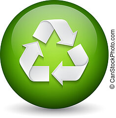Recycle sign EPS10 vector
