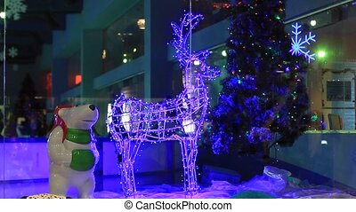 Christmas decorations in shopping center