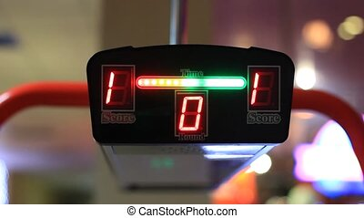 Time and score digital counter
