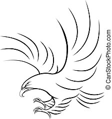 Eagle - Stylised eagle illustration of an eagle swooping in...