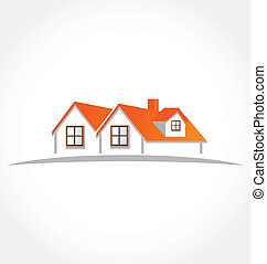 Houses apartments vector logo icon design element