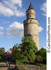 Castle tower in Idstein, Hesse, Germany
