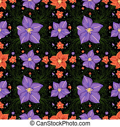 Seamless floral pattern - Illustration of seamless floral...