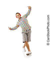 Young man dancing - Portrait of a handsome young man dancing...