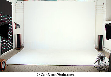 Interior of the modern photo studio