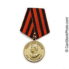 antigas, Soviético, medalha, vitória, sobre,...