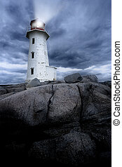 Peggys Cove lighthouse - The lighthouse at Peggys Cove in...