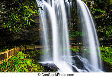 Dry Falls, on the Cullasaja River in Nantahala National...