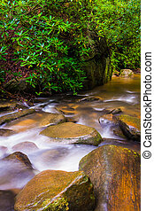 Cascades on Carrick Creek, at Table Rock State Park, South...