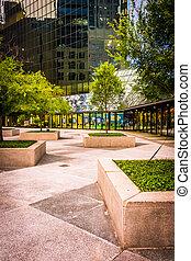 Courtyard in downtown Orlando, Florida.