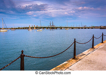 The Matanzas River in St. Augustine, Florida. - The Matanzas...