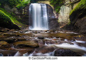 Looking Glass Falls, in Pisgah National Forest, North...