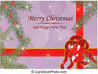 Christmas background or gretting card. Vector
