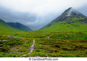 Bad weather at Glen Coe - A rainy day at Glen Coe, Scotland