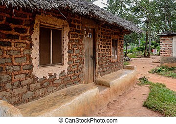 Mud house in Zanzibar Village - a mud house in zanzibar...