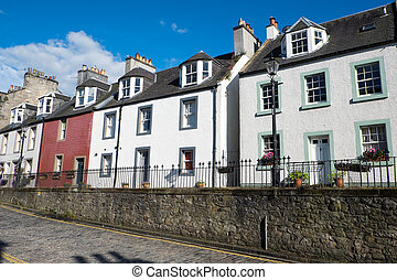 Typical houses in South Queensferry - A row of typical...