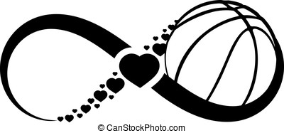 Basketball Love Infinity - Infinity symbol with a basketball...