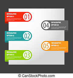 Vector set of modern infographics options tags. - For games...