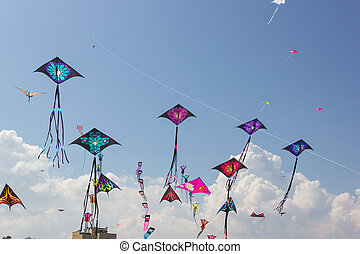 Kite festival - Beautiful kites in a kite festival