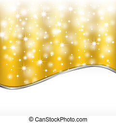 Golden background with lights