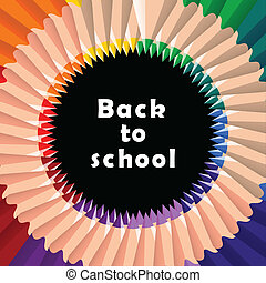 Back to school, colorful pencil