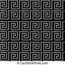repeating maze like design scratchy silver - Continuous...